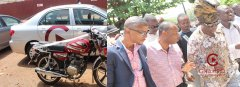 GHAMRO Presents Car And Motorbike To Office In Ashanti Region
